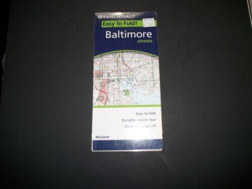 BALTIMORE  Street Map  Rand McNally  2006  LAMINATED  NEW