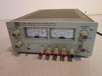 Hp Triple Output Power Supply 6236b Powers On 0-6v 0-2.5a020v 0-0.5a Nice