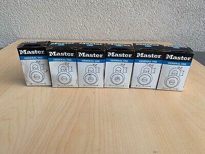 Lot Of 6 Master Lock Combination Lock Dial Padlock Gym School Locker Bike