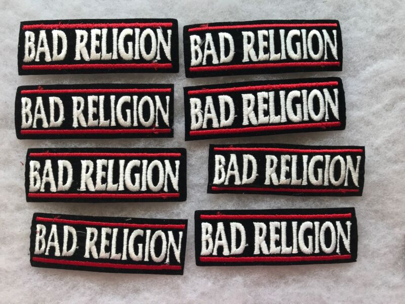 8 BAD RELIGION Vintage Unused Patches