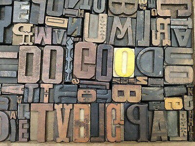 Letterpress Wood Types Collage Do Go 91 Vintage Random Wooden Types Tc4