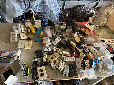 New Old Stock Bulk Lot Of Electrical Contractor Surplus Supplies Wholesale Lot