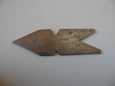 Vintage Starrett No.396 Thread Angles 60 Degree Center Gage