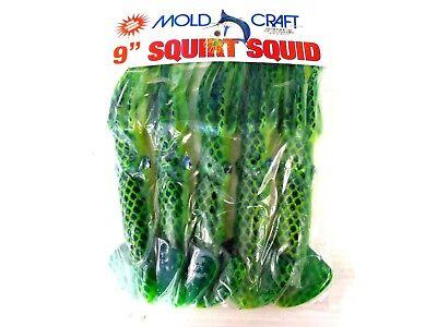 "Moldcraft 5712B-08 Squirt Squid 12/""  Green Metallic Flake 11855"