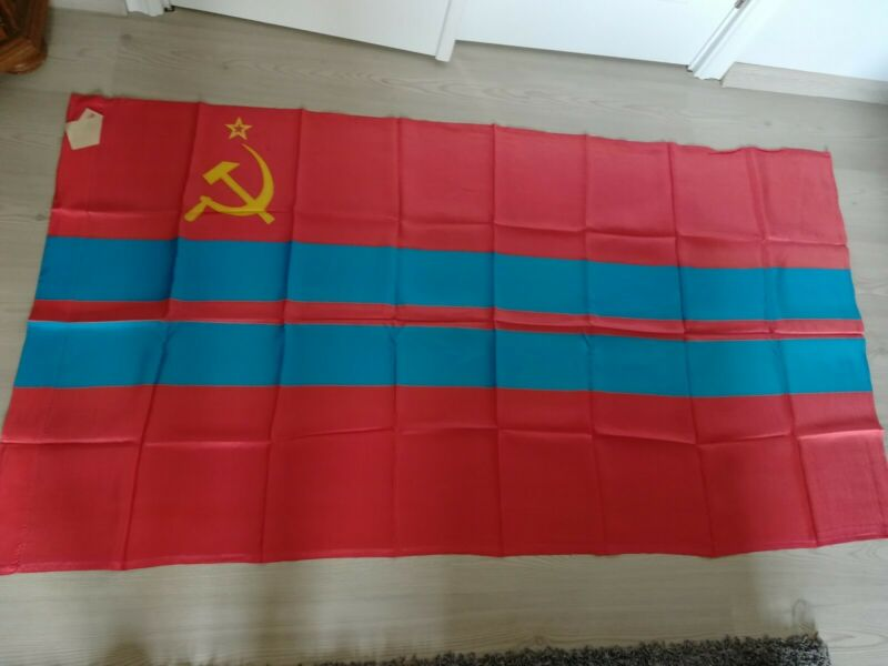 Original Flag of Turkmenia Turkmenian Soviet Socialist Republic USSR