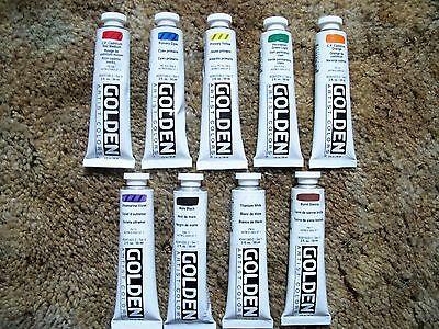 Golden Heavy-body Acrylic Paint 9 - 2 ounce Tubes Lot 7 - Body Paint Tube