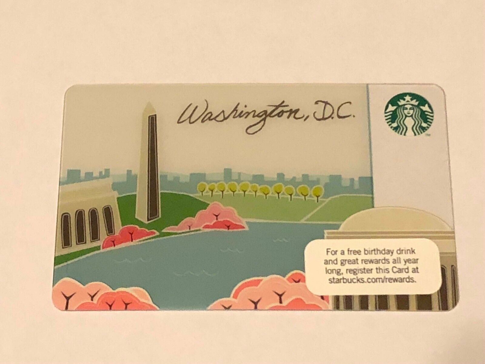 Starbucks Card 2012  Washington DC Cherry Blossoms NEW Rare MINT