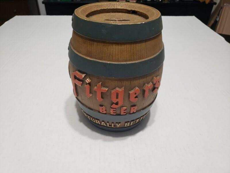 VINTAGE FITGER'S BEER CERAMIC KEG- FITGER'S BEER ADVERTISING- FITGER'S BEER BANK