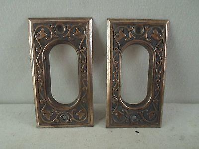 antique Victorian Eastlake pocket sliding door handles or pulls