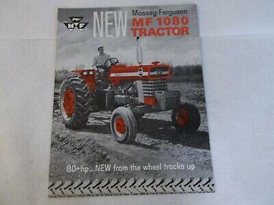Massey Ferguson 1080 Diesel 80hp Tractors Brochure