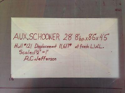 AUX SCHOONER SHIP BLUEPRINTS