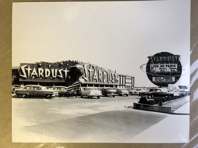 "Stardust Casino Vegas  8x10"" Grand Opening 1958 - Garage Decor"