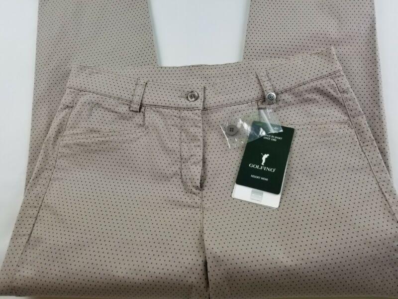 Women`s GOLFINO Resort Wear polka dot golf  pants Size 8 slim fit    #2843
