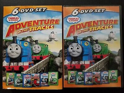 Thomas Friends: Adventures on the Tracks w/ Slipcover 6-DVD Set 2011 NEW SEALED