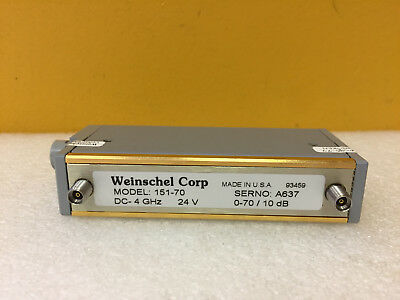 Weinschel 151-70 Dc To 4.0 Ghz 0 To 70 Db 3.5mm F Programmable Attenuator New