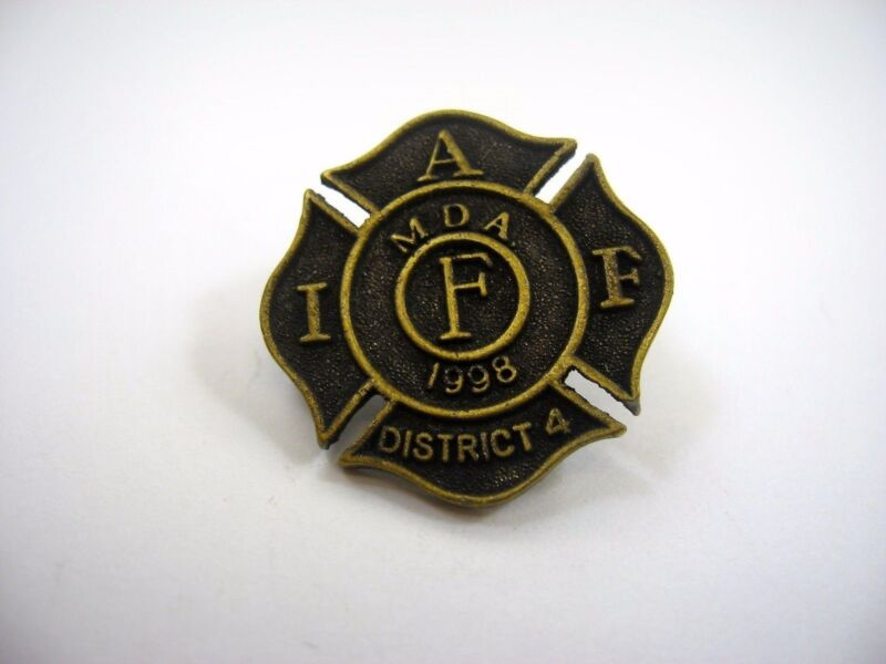 Vintage Collectible Pin: IAFF MDA 1998 International Association Fire Fighters