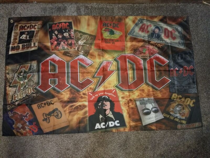 AC/DC FLAG BANNER CLOTH POSTER 3
