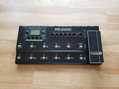 Line 6 POD HD500X Guitar Multi-effects Floor Processor Pedal and AC Adapter