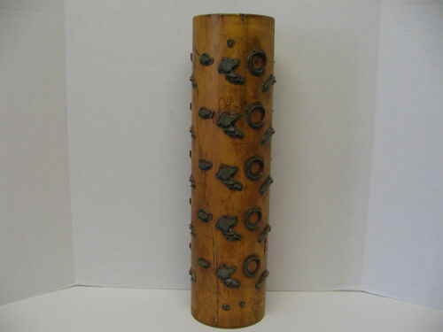 VINTAGE WOODEN WALLPAPER PRINT ROLL ROLLER