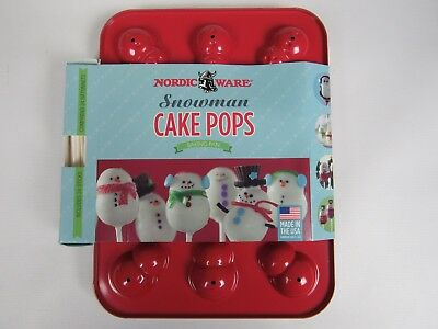 Nordic Ware Christmas Holiday Snowman Cake Pops Baking Pan. - Holiday Cake Pops