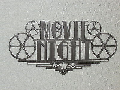 Large Wooden Movie Night Home Theater Wall Decor Sign Reels Theater - Movie Theater Wall Decor