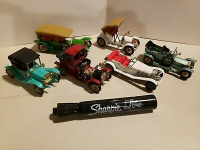 Set of 6 Models of Yesteryear Lesney Matchbox Mercedes, Rolls & more. Excellent!