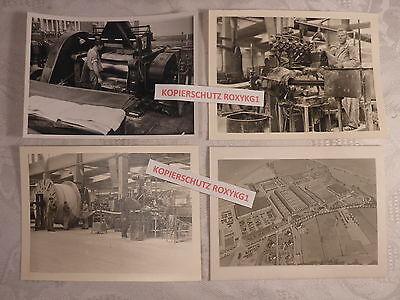 4 x altes Foto Fabrik Arbeit Industrie Werkhalle Kabelwerk Neustadt (Coburg)