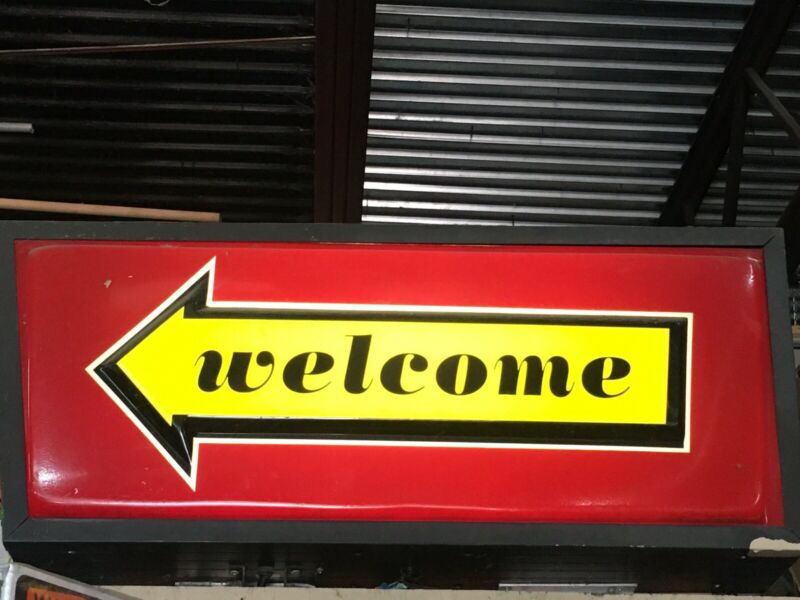 Mcdonalds Lighted Welcome Exit Drive Thru Works  Sign