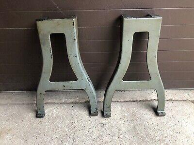 Vintage Logan Lathe Cast Iron Table Legs Industrial Machine Shop