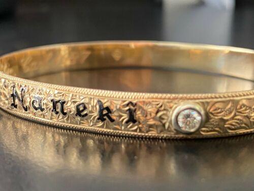 Hawaiian Heirloom Jewelry Bracelet .85oz 14k Yellow Gold,  1/2ct Diamond
