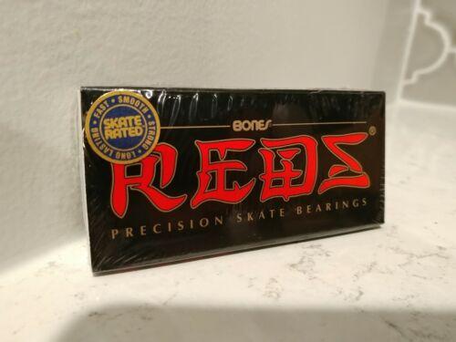 BONES REDS Skateboard Bearings 8-Pack 8mm Precision Size 608 (Standard) SEALED!!