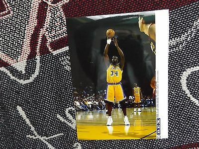 """8"""" x 6"""" PRESS AGENCY PHOTO - SHAQUILLE O'NEAL - LA LAKERS BASKETBALL 1997"""