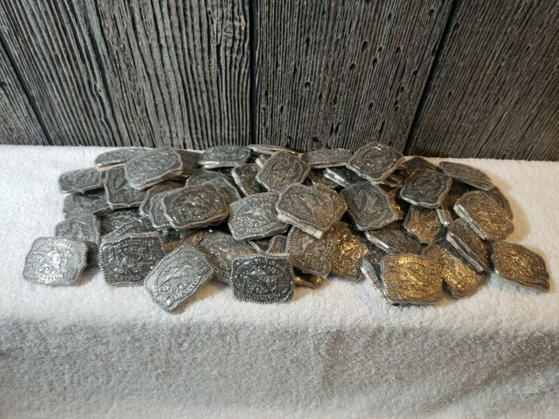 1986 Hesston Youth National Finals Rodeo Belt Buckles Lot Of 59 Sealed