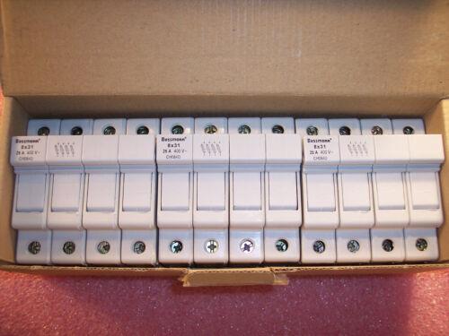 BOX of (3) CH084D COOPER BUSSMANN MODULAR FUSE HOLDERS