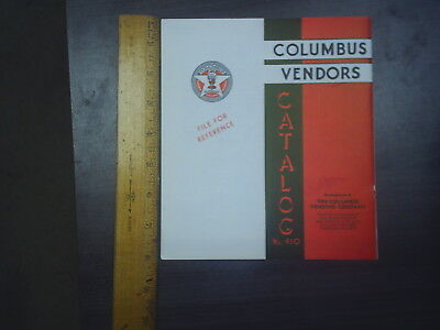 No.410 Columbus Vendors machine Catalogue WOW free shipping C@@L new old stock