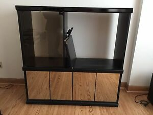 Tv Stand with Mirror Doors