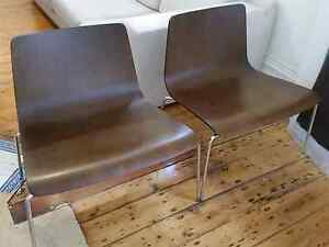 Capellini molded plywood & chrome chairs × 2 mid century danish Redfern Inner Sydney Preview