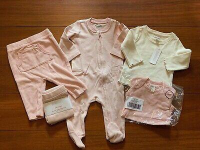 Gymboree Baby Girl Layette 6 Piece Set Pink & White 3-6 Months NWT
