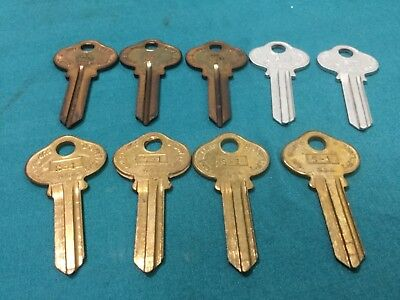 Sargent By Curtis S1 Kywy Key Blanks 5 Pin Set Of 9 - Locksmith