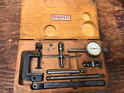 Vintage Starrett Dial Indicator Set In Wooden Case