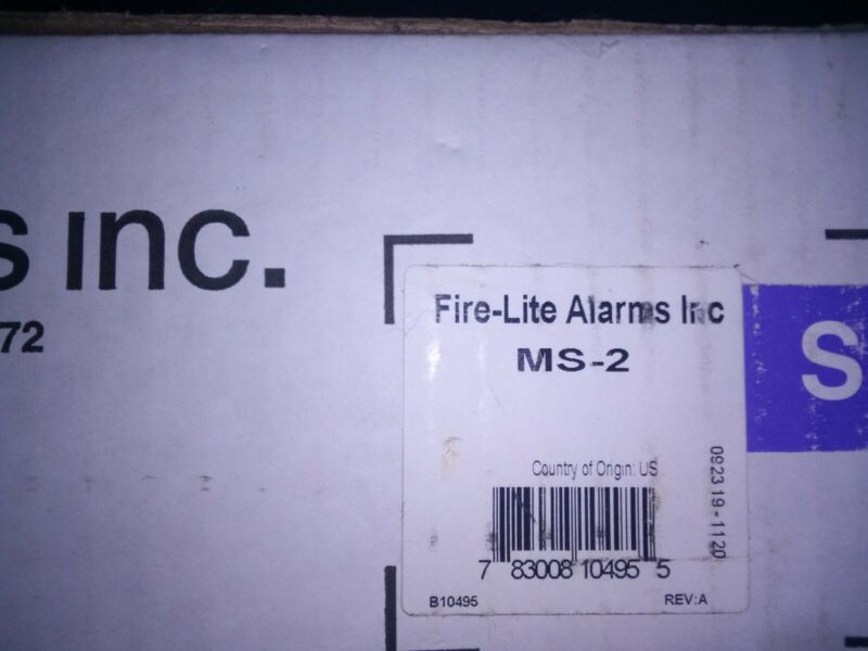 FIRELITE ALARMS MS-2  Two-Zone Conventional Fire Alarm Control panel