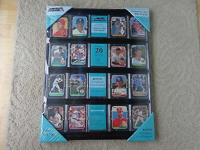 2 - Baseball Card Display Holder Case Frames 16 x 20 inch Holds 20 Cards Black