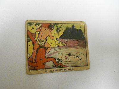 1934 TARZAN Saved By Inches #29 Schutter Johnson Candy Card GD-