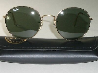 Vintage B&L Ray-Ban W0607 Voas 52 21mm Arista Rund Lennon Aviator Sonnenbrille