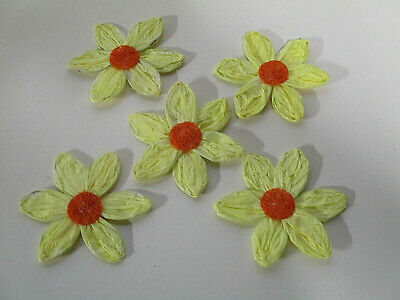 Dekoration Deko 5 Papier Krepp Blumen Draht Kunstblumen Streudeko Basteln Blüten