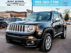 2018 Jeep Renegade 4X4, BLUETOOTH, NAV, BACK UP CAM, SUNROOF, TO