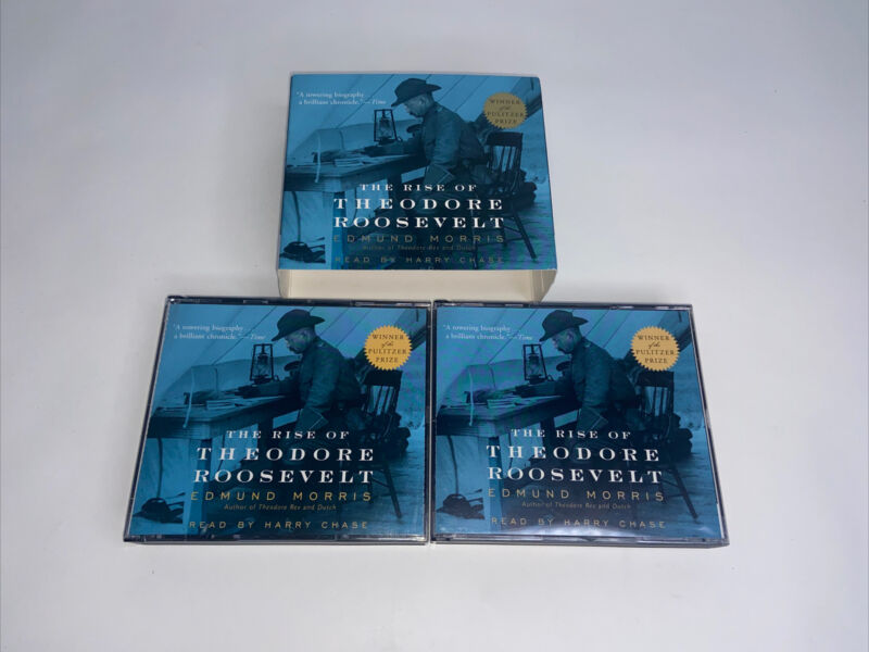 The Rise of Theodore Roosevelt by Edmund Morris 2002  Abridged 8 CDs 9 hours (F)