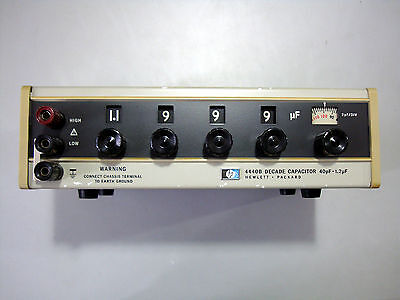 Hewlett Packard Agilent Keysight 4440b Precision Decade Capacitor 40pf1.2f