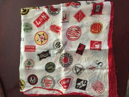 Vintage Railroad emblem scarf