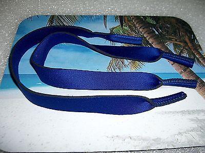 2 PAIR BLUE NEOPRENE SUNGLASSES / EYEGLASSES LANYARDS NECK (Neoprene Eyeglass Strap)